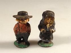Amish Figures Cast Iron Painted Early Statue