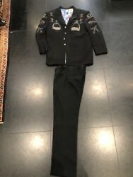 Manuel Rhinestone Menand039s Suit - Jacket And Trousers