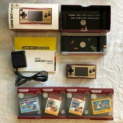 Nintendo Game Boy Micro 20th Model Nes Color Operation Check With 4 Software Set
