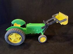 Vintage Gay Toys Green And Yellow Tractor Farm Vehicle 740 Usa John Deere Look