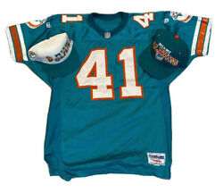 Vintage Wilson Pro Line Nfl Miami Dolphins Keith Byars Football Jersey Hat Lot