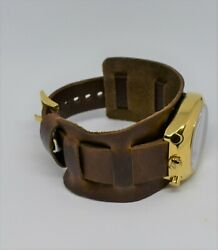 Detroit Mint Hollywood Watch Cuff Vintage Waxed Brown
