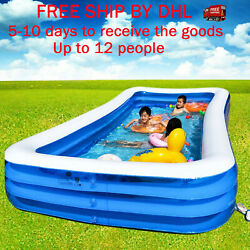 Inflatable Swimming Pool Outdoor Family Kiddie Pools Swim Center Up 12 People