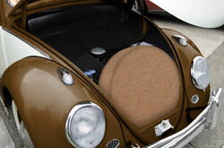 1952-1967 Vw Beetle Spare Tire Cover Oe Style Tan Square Weave 165/r15 323259701