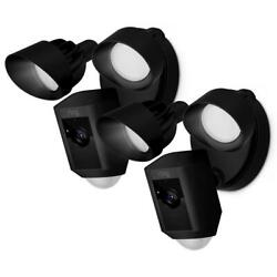 Ring Outdoor Wi-fi Cam With Motion Activated Floodlight Black 2-pack 2 Way Talk