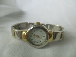 Carriage By Timex Gold And Silver Toned Metal Bracelet Wristwatch