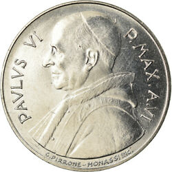 [901260] Coin Vatican City Paul Vi 100 Lire 1968 Ms Stainless Steel