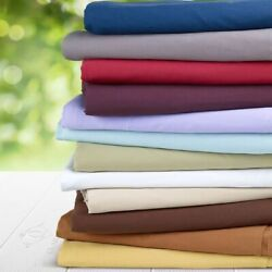 1000 Tc Egyptian Cotton 3 Pc Pinch Pleated Duvet Cover Set Us Sizes Solid Colors