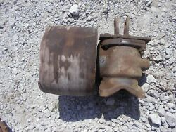 Ford 8n 9n Tractor Original Flat Belt Pulley Drive Assembly W/ Top Link Bracket
