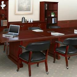 Traditional Conference Room Table And Chairs Set Meeting Table Set Mahogany Wood