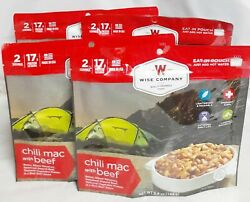 Wise Company Chili Mac With Beef Single Meals 4 Packages 2 Servings Per Meal New
