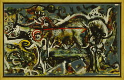 Framed Jackson Pollock The She-wolf Giclee Canvas Print Paintings Poster