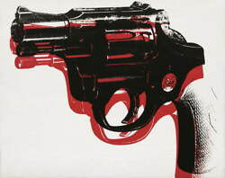 Andy Warhol Gun Poster Reproduction Paintings Giclee Canvas Print