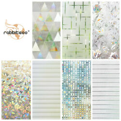 Rabbitgoo Window Film Privacy Any Tint Stained Glass 3d Stickers Home Office