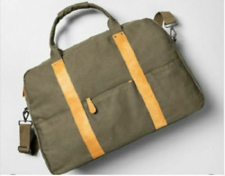 HEARTH amp; HAND TOTE CANVAS WEEKENDER BAG GREEN $24.99