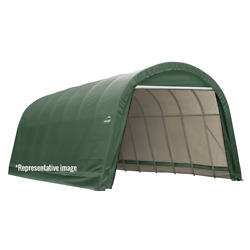 Sheltercoat Round Wind And Snow Rated Shelter 12 X 28 X 8 Ft.