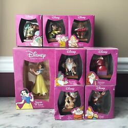 Disney 8-piece Snow White And 7 Dwarfs Figurines In Boxes, 65th Anniversary