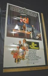Original Vintage Folded Movie Poster 27x41 1968 The Shoes Of The Fisherman Rare
