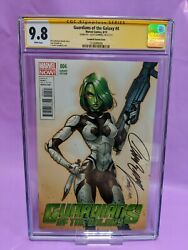 Guardians Of The Galaxy 4 Cgc 9.8 Ss Signed By J. Scott Campbell Variant Cover