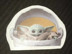 Star Wars The Mandalirian Baby Yoda Wall Decal Reusable Removable Sticker