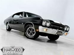 1970 Chevrolet Chevelle  1970 Chevrolet Chevelle SS  59941 Miles Tuxedo Black Coupe 454 cubic inch LS6 V8