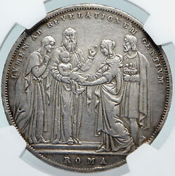 1831 Italy Italian Papal States Pope Gregory Xvi Silver Scudo Coin Ngc I85332