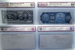 Canada Banque Dand039hochelaga20 Dollars 1898 With Printers Notes .front And Back
