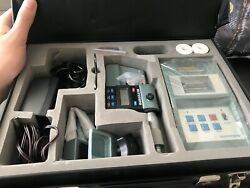 New Mitutoyo 264-500 Digimatic Miniprocessor Machine With Micrometer And Stand