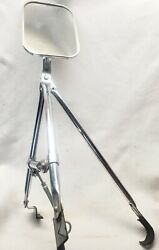 Vintage Aftermarket Truck Outside Rear View Mirrornice Chrome And Glass