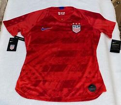 Nike Us Usa National Team 2019 17 Heath Red 4 Star Soccer Jersey New Womens Xs