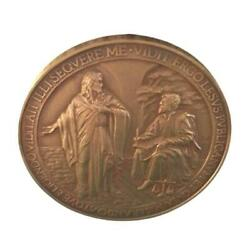 Annual Papal Medal W/ Error Bronze Mint - Year 1 Pope Francis 2013 Lesus