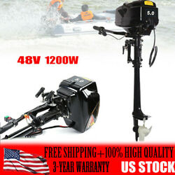 1.2kw Electric Outboard Trolling Canoes Ship Boat Engine Long Shaft Motor