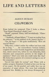Chawdron Short Story. An Original Article From The Life And Letters Periodical