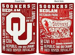 Oklahoma Sooners Fan Rules Style Premium 2-sided 28x44 Banner Flag University Of