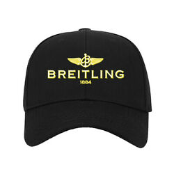 New Baseball Hat Breitling Wings Logo Printed Cap One Size Fits All Black #A $9.99
