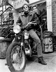 Crp-50599 Don Stroud And Tisha Sterling On Motorcycle Film Coogan's Bluff Crp-5059