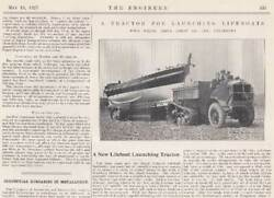 --- Four Wheel Drive Lorry Co. Ltd. Engineers. A Tractor For Launching R.n.l.