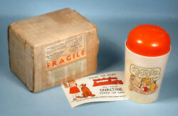 1930s Little Orphan Annie Ovaltine Mug Radio Cereal Premium With Box And Papers