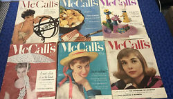 Mccall's Magazines May 1950,oct 1953, April,may,july 1954 And Nov 1955 Poor