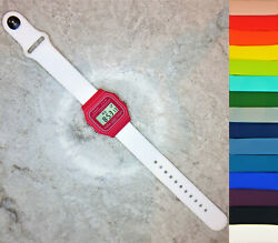 Casio F-91w Pink Watch With Quick-release Silicone Strap 15 Colour Options