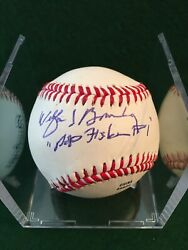 Wilford Brimley Pop Fisher The Natural Autographed Baseball Jsa Coa In-person