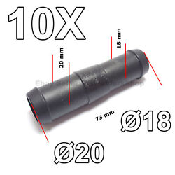 10x 18mm To 20mm Straight Reducing Hose Pipe Tube Connector For Air Fuel Water
