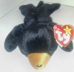 TY Beanie Babies - Blackie the Bear with PE pellets. style# 4011 1993