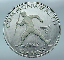 1982 Samoa Uk British Commonwealth Games Old Proof Silver 10 Tala Coin I85546