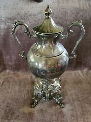 Vintage Sheridan Silver On Copper Urn Tea Coffee Pot Only Ships Free