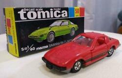 Mazda Rx-7 160 Scale Tomica Takara Tomy Toy Car Red Vintage From Japan Unused