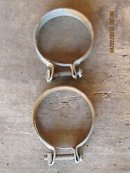 Nos 1940and039s-1970and039s Ford Gm Mopar Strap Square Nut Clamp Pair 2-1/2