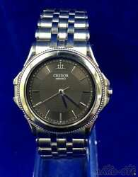 Seiko Credor 8j81-6a20 Box Stainless Steel Quartz Mens Watch Authentic Working