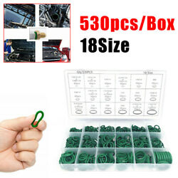530pcs 18 Sizes O-ring Seals R134a Car Ac A/c Air Conditioning Rubber Gasket Kit