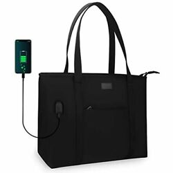 Relavel Laptop Tote Bag For Men And Women Business Work Teacher School USB Fits $31.29